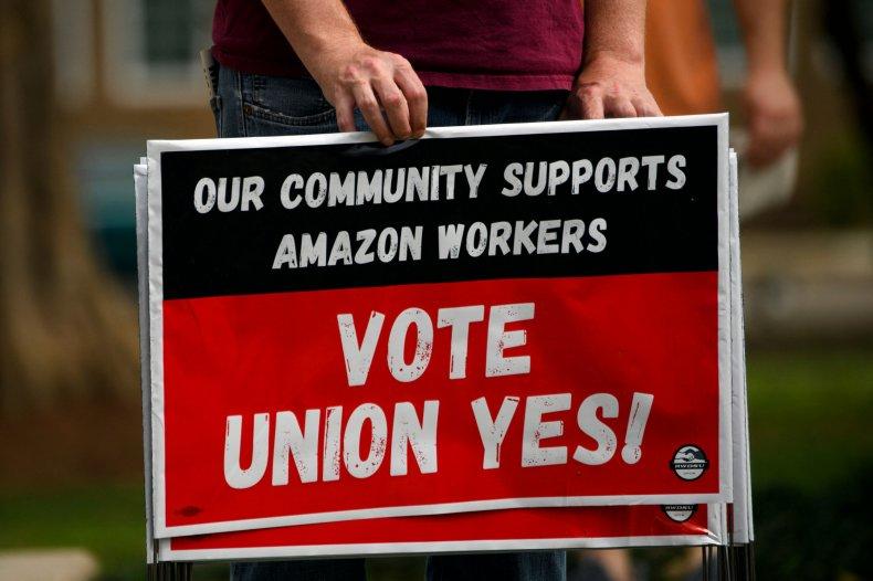 union amazon bezos sanders