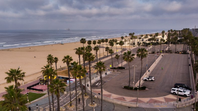 Pier Plaza in Huntington Beach, California