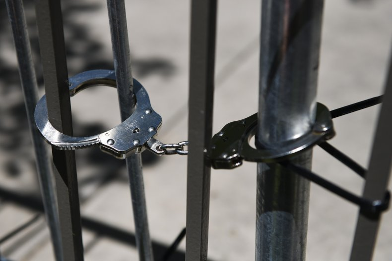 Handcuffs Placed On a Barricade
