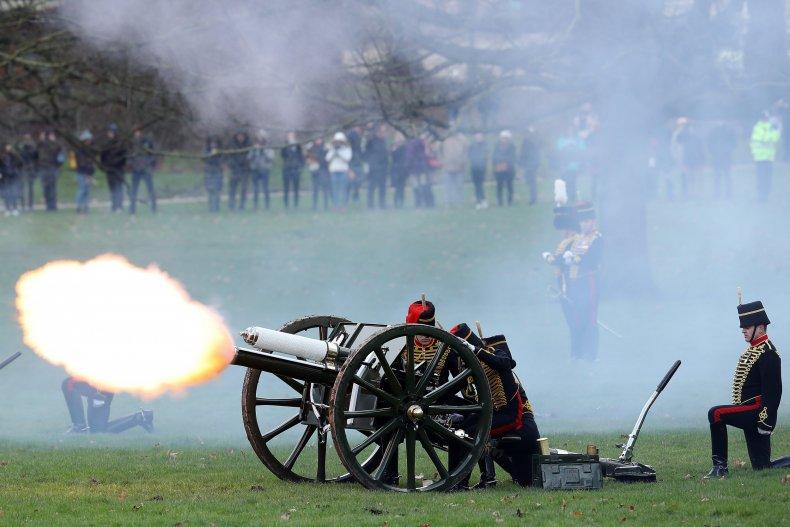 A 2018 Gun Salute Honors Elizabeth II