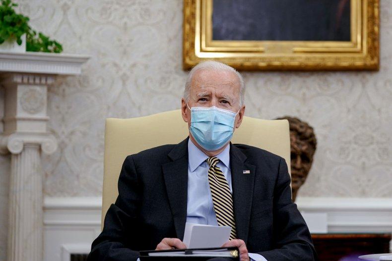 Joe Biden in the Oval Office