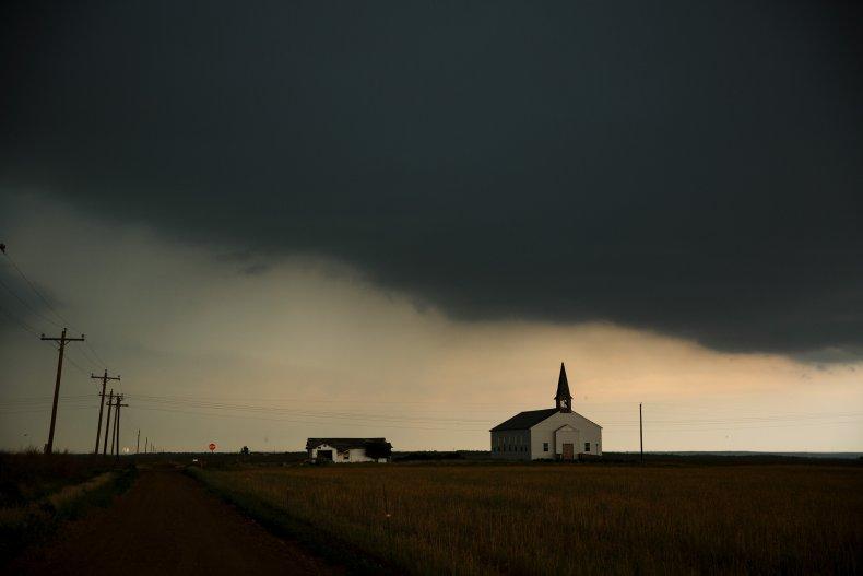 Tornado storm stock