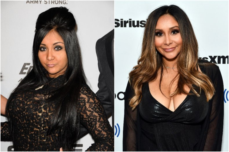 Nicole 'Snooki' Polizzi then and now