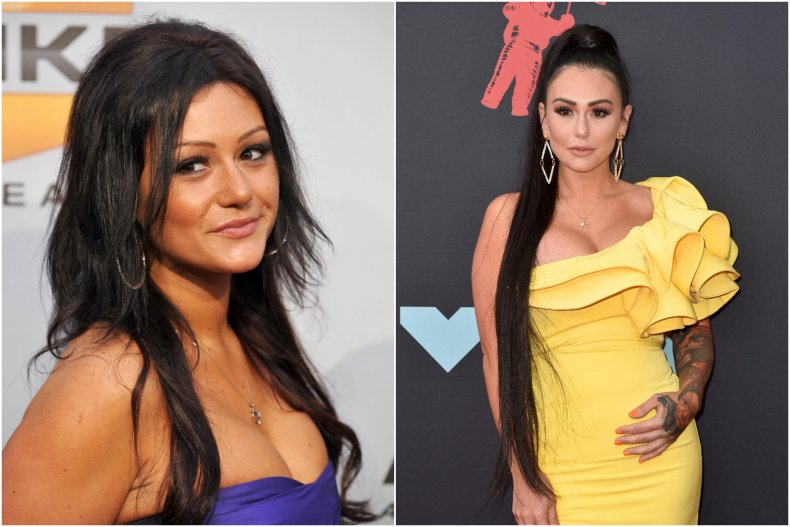 Jenni 'JWoww' Farley then and now