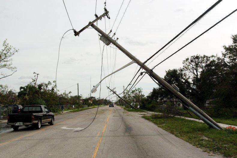 Power lines fallen Florida