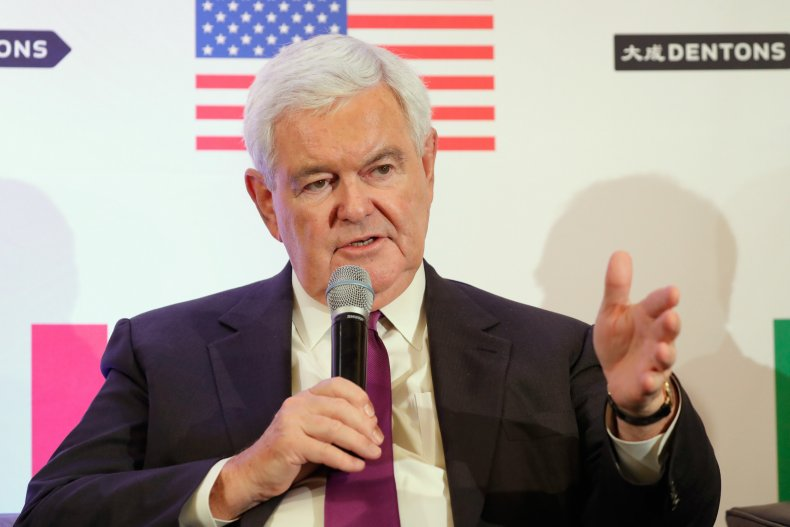 Gingrich appeared on Fox News earlier today