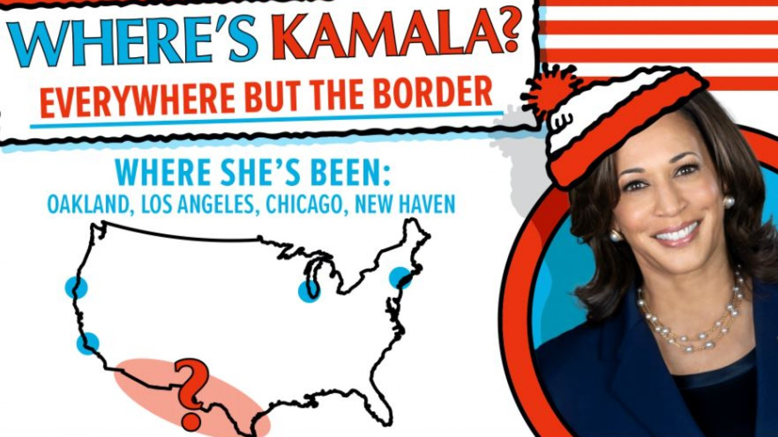 Where's Kamala?': Nikki Haley Mocks VP's Lack of Border Visit With 'Where's  Waldo' Picture