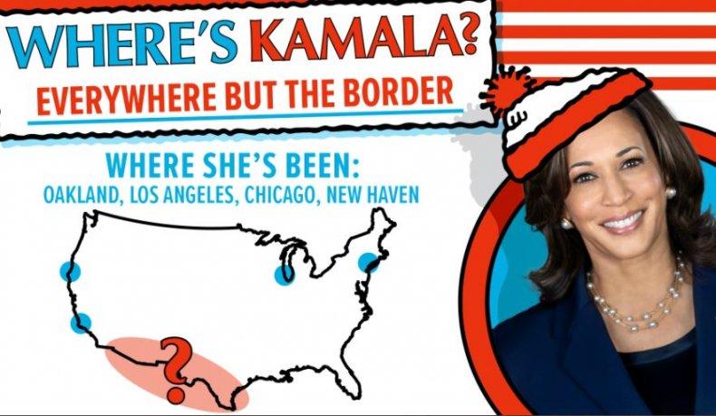 wheres kamala border crisis meme