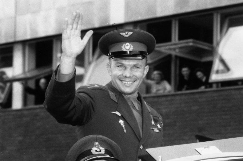 yuri gagarin, cosmonaut, first man in space,getty