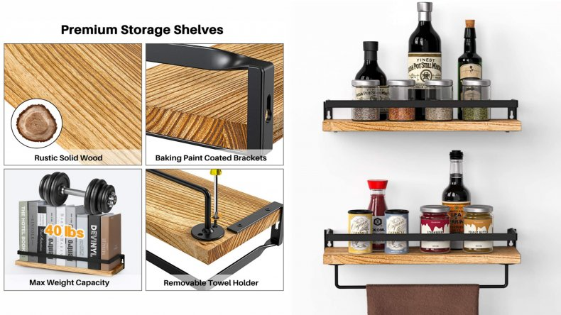 Amada Rustic Floating Shelves