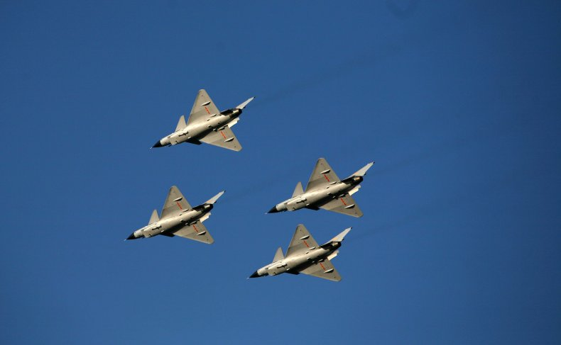 Chinese Warplanes Perform In Air Show