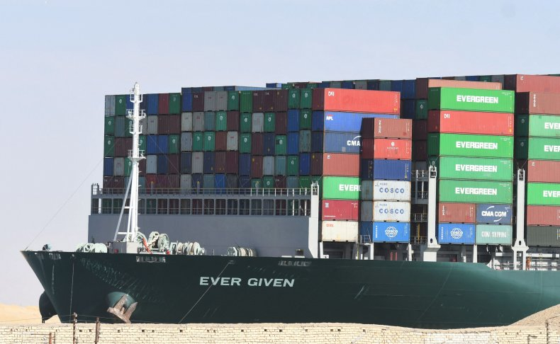 ever given ship stuck march 2021