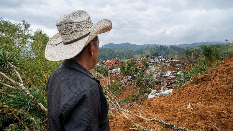 Hurricane aftermath in Honduras