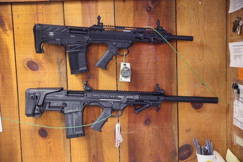 Guns on sale at Illinois shop
