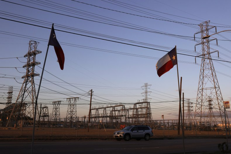 Texas electrical substation