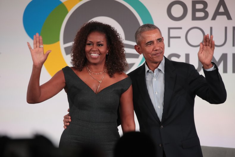 Barack and Michelle Obama in 2019