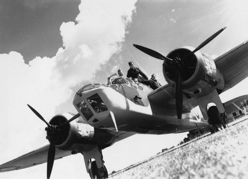 A Bristol Blenheim bomber and her crew