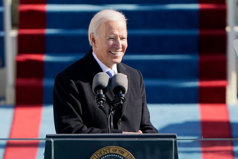 President Joe Biden Addresses Crowd At Inauguration