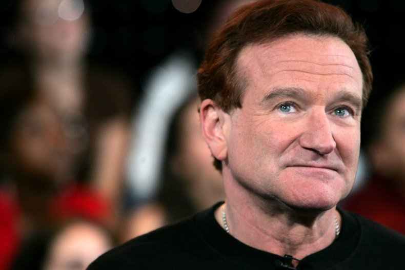 Actor Robin Williams appears onstage in 2006