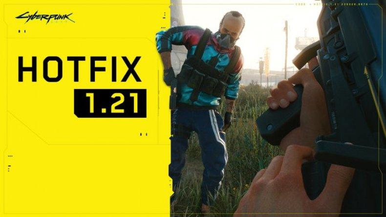 cyberpunk 2077 hotfix 1.21 update