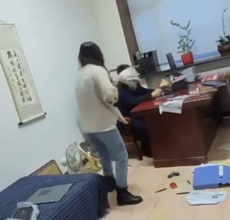 Alleged Harassment Victim Hits Boss With Mop