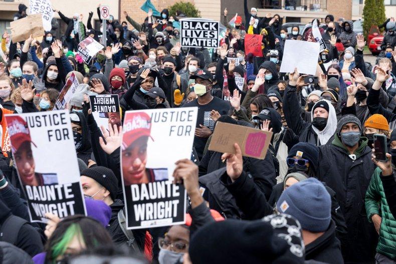 Daunte Wright protest April 12, 2021