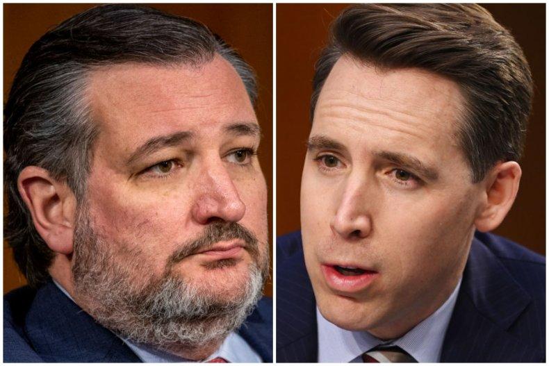 Senator Ted Cruz and Josh Hawley Composite