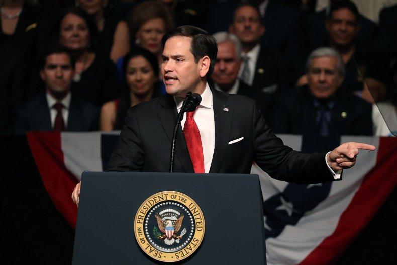 Senator Marco Rubio Speaking Before Donald Trump