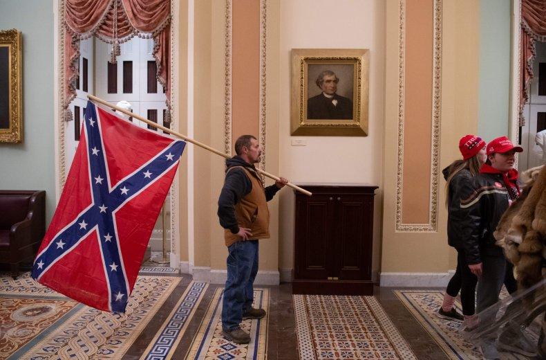 Confederate flag Capitol riots January 2021