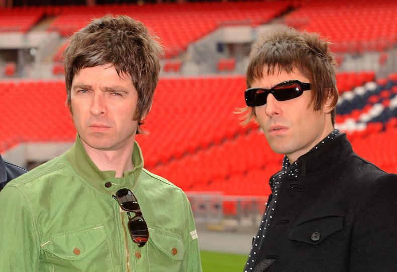Noel and Liam Gallagher at Wembley