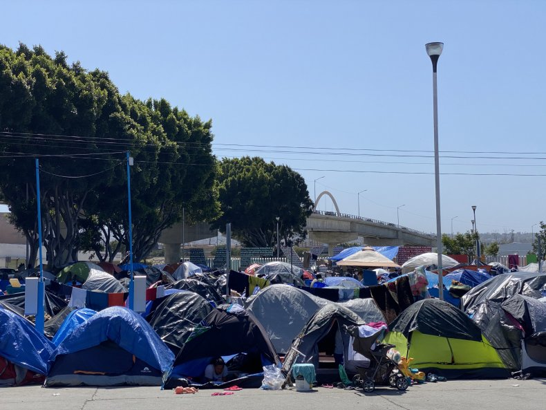 Border tent camp