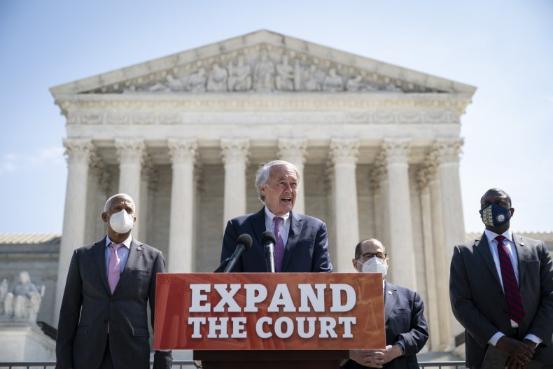 Democrats unveil their court-packing plan in front