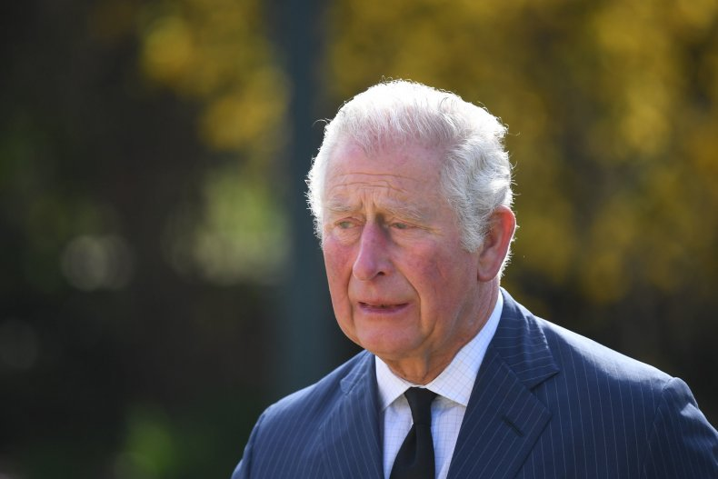 Prince Charles Inspects Prince Philip Palace Flowers