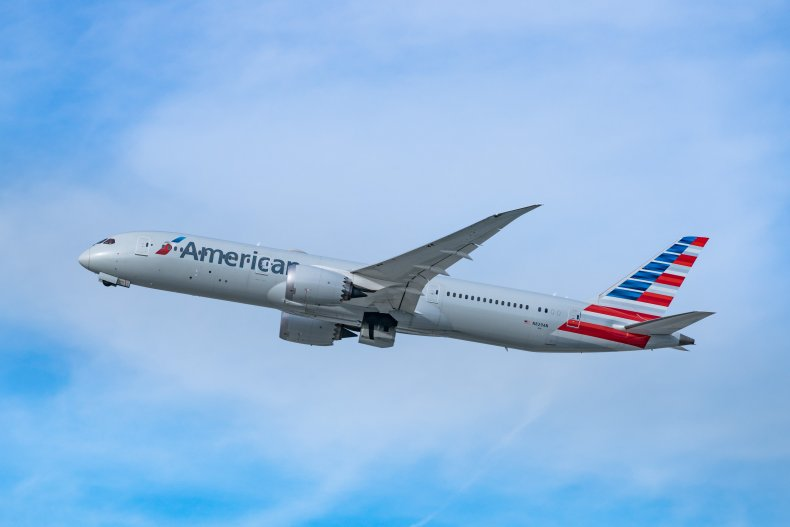 American Airlines Boeing taking off