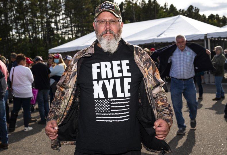 Man With Kyle Rittenhouse Shirt