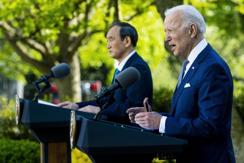 Biden Suga Japan China Territorial Dispute Islands