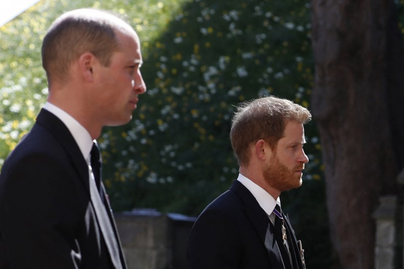 Princes Harry, William at Prince Philip's Funeral