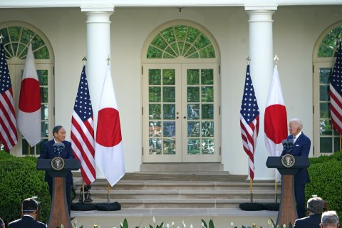 Joe Biden Yoshihide Suga press conference
