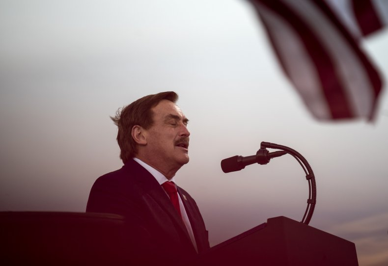 Mike Lindell at 2020 Donald Trump rally
