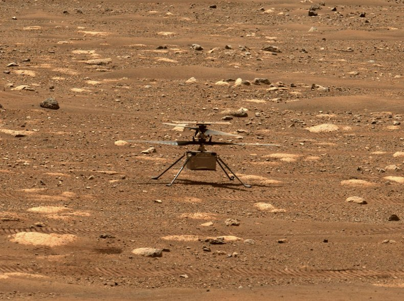 NASA's Ingenuity helicopter on Mars