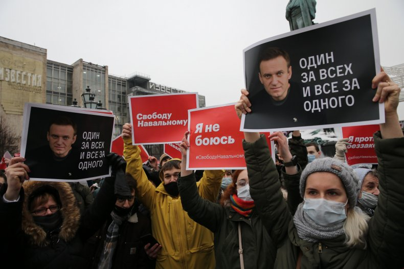 Navalny protests in Moscow