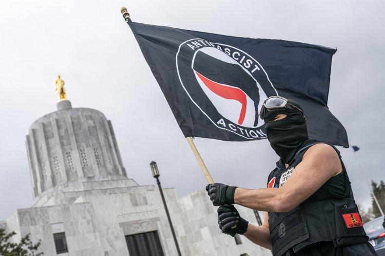 Antifa activist pictured in Salem, ORegon
