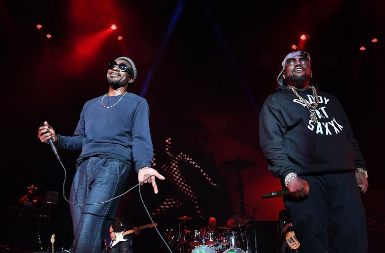 OutKast on stage at Lakewood Amphitheatre