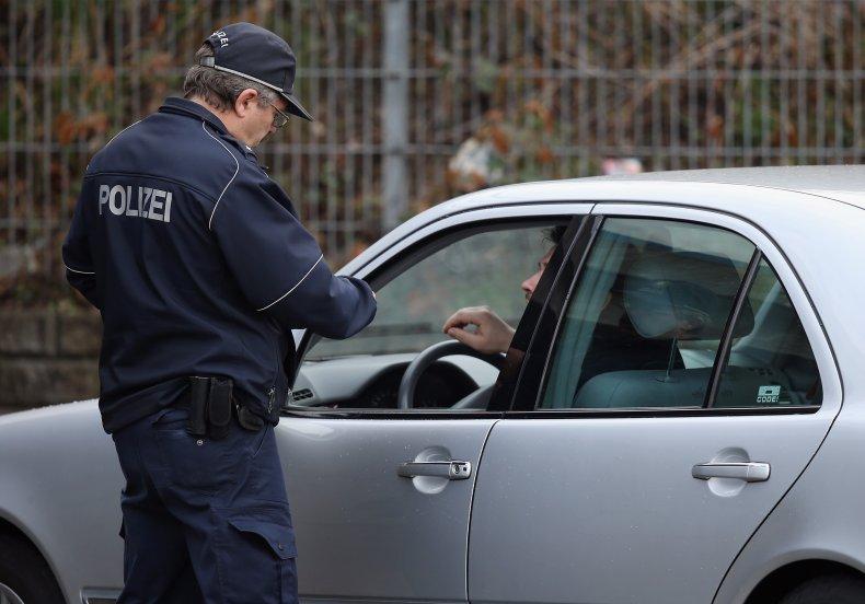 police officer stops man for speeding