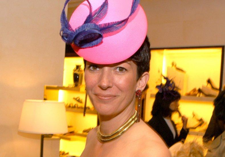 Ghislaine Maxwell New York City Hat Show