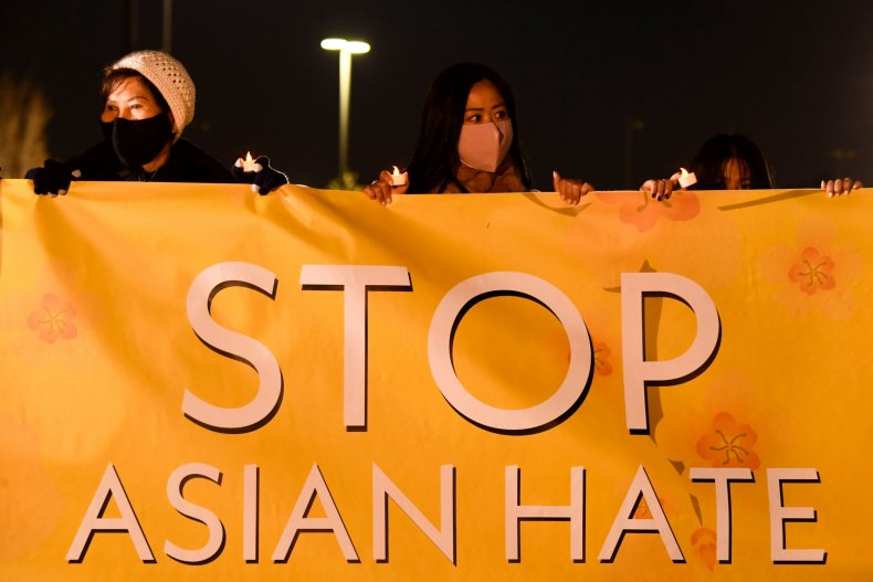 Stop Asian hate rally vigil March 2021