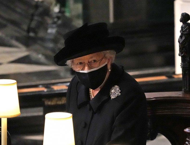 Queen Elizabeth II at Prince Philip's Funeral