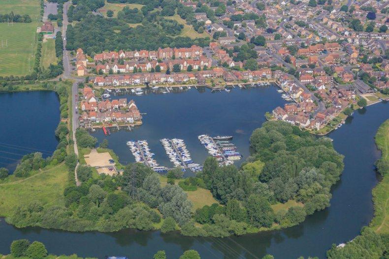 Aerial view of Abingdon, Oxfordshire