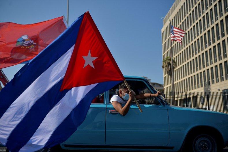 bandera, cuba, embajada, la habana, rally