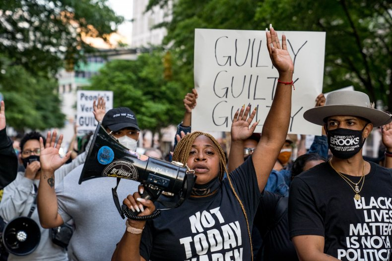 BLM protesters in Atlanta Georgia